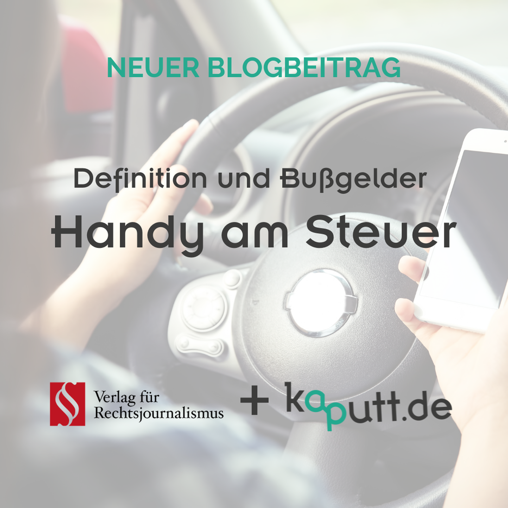 Blog Handy am Steuer